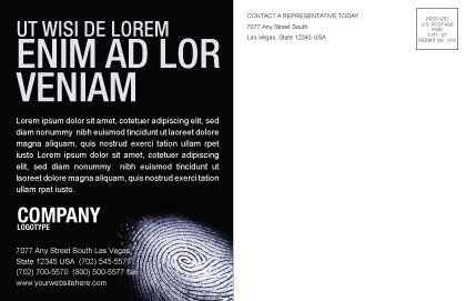 Fingerprint Postcard Template, Inner Page, 03890, People — PoweredTemplate.com