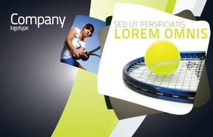 Tennis Ball Postcard Template, Outer Page, 03918, Sports — PoweredTemplate.com
