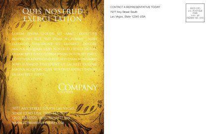 Christian Bible Postcard Template, Inner Page, 03936, Religious/Spiritual — PoweredTemplate.com