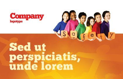 Eurosafe European Child Safety Alliance Postcard Template, Outer Page, 03960, Education & Training — PoweredTemplate.com