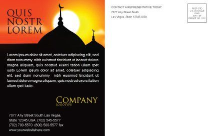 Mosques Postcard Template Inner Page