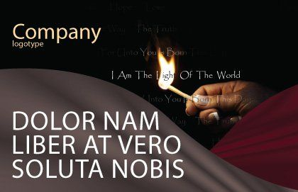 I Am The Light Of The World Postcard Template, Outer Page, 04034, Religious/Spiritual — PoweredTemplate.com