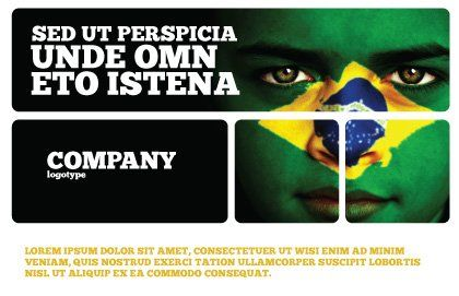 Face Of Brazil Postcard Template, Outer Page, 04059, Flags/International — PoweredTemplate.com