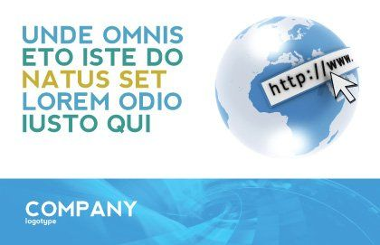 Site Address Postcard Template, Outer Page, 04201, Telecommunication — PoweredTemplate.com