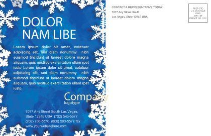 Winter Theme Postcard Template, Inner Page, 04220, Holiday/Special Occasion — PoweredTemplate.com