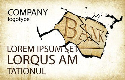 Bank Bankruptcy Postcard Template Outer Page