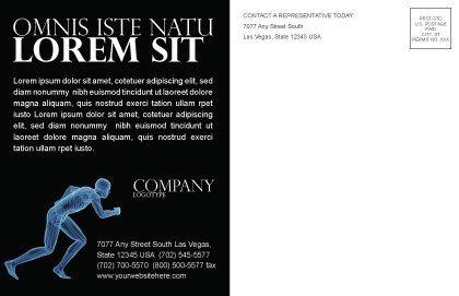 Start Position Postcard Template, Inner Page, 04229, Sports — PoweredTemplate.com