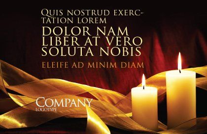 Candle Light Postcard Template, Outer Page, 04239, Religious/Spiritual — PoweredTemplate.com