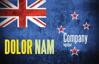 New Zealand Postcard Template, Outer Page, 04258, Flags/International — PoweredTemplate.com