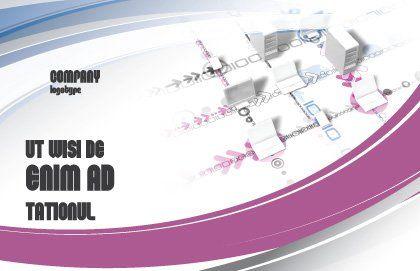 Multicomputer System Postcard Template, Outer Page, 04331, Telecommunication — PoweredTemplate.com