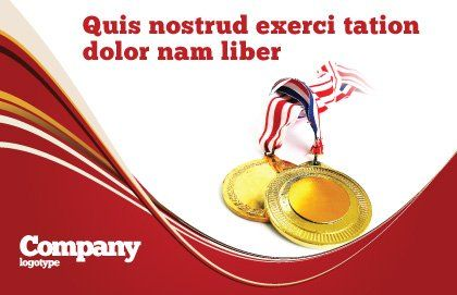 Medal Postcard Template Outer Page