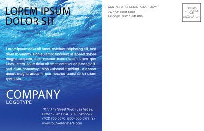 Deep Waters Postcard Template Inner Page