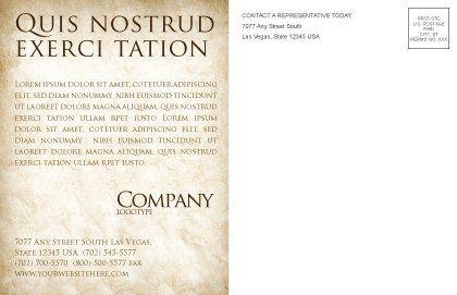 3D Pie Chart Postcard Template, Inner Page, 04559, 3D — PoweredTemplate.com