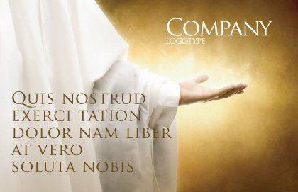 St Family Religion Postcard Template, Outer Page, 04579, Religious/Spiritual — PoweredTemplate.com