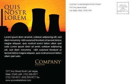 Nuclear Power Plant Postcard Template, Inner Page, 04632, Utilities/Industrial — PoweredTemplate.com