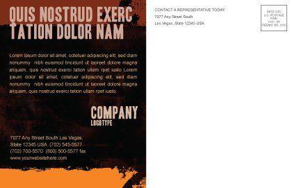 Dactylogram Postcard Template, Inner Page, 04637, Careers/Industry — PoweredTemplate.com