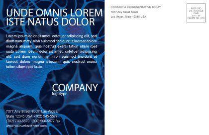 Neurons Postcard Template, Inner Page, 04703, Medical — PoweredTemplate.com