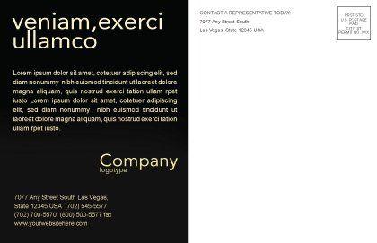 Modern Music Postcard Template, Inner Page, 04739, Art & Entertainment — PoweredTemplate.com