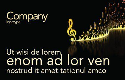 Modern Music Postcard Template, Outer Page, 04739, Art & Entertainment — PoweredTemplate.com