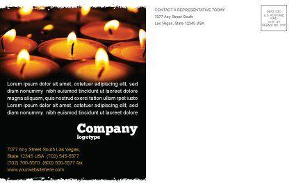 Religious Service Postcard Template, Inner Page, 04743, Religious/Spiritual — PoweredTemplate.com