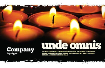 Religious Service Postcard Template, Outer Page, 04743, Religious/Spiritual — PoweredTemplate.com
