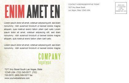 Green Path Postcard Template, Inner Page, 04785, Nature & Environment — PoweredTemplate.com