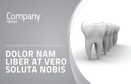 Teeth Postcard Template, Outer Page, 04787, Medical — PoweredTemplate.com
