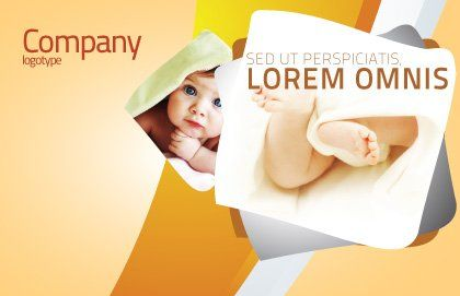 Little Feet Postcard Template, Outer Page, 04837, Education & Training — PoweredTemplate.com