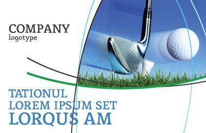 Slight Bump In Golf Postcard Template, Outer Page, 04845, Sports — PoweredTemplate.com