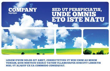 Sunny Landscape Postcard Template, Outer Page, 04863, Nature & Environment — PoweredTemplate.com