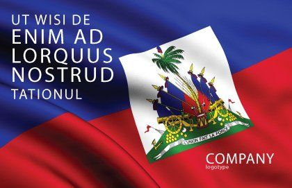 Haiti Postcard Template, Outer Page, 04875, Flags/International — PoweredTemplate.com