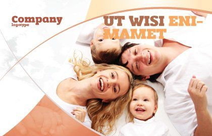 Lucky Family Postcard Template Outer Page