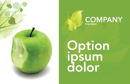 Apple Bite Postcard Template, Outer Page, 04900, Education & Training — PoweredTemplate.com