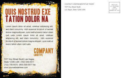 Smoking Kills Postcard Template, Inner Page, 05004, Medical — PoweredTemplate.com