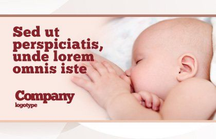 Breast Feeding Postcard Template, Outer Page, 05025, Medical — PoweredTemplate.com