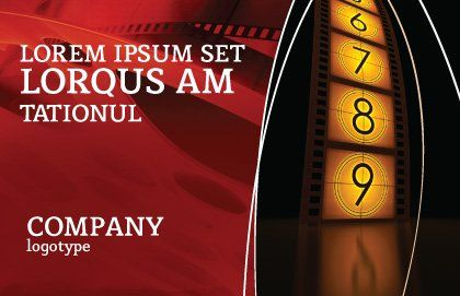 Cinema Strip Postcard Template, Outer Page, 05073, Careers/Industry — PoweredTemplate.com