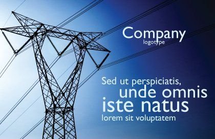 Power Lines Mast Postcard Template Outer Page
