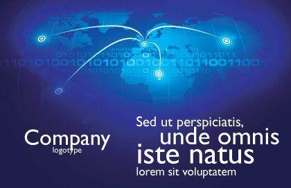 IP Address Postcard Template, Outer Page, 05155, Telecommunication — PoweredTemplate.com