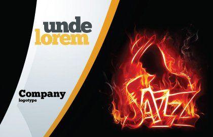 Jazz Postcard Template, Outer Page, 05158, Art & Entertainment — PoweredTemplate.com