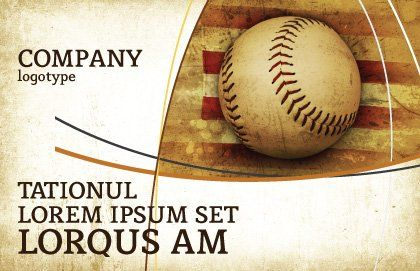 American Baseball Postcard Template Outer Page
