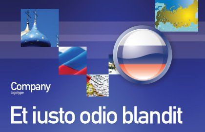 Russian Flag Postcard Template Outer Page