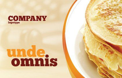 Pancakes Postcard Template, Outer Page, 05343, Food & Beverage — PoweredTemplate.com