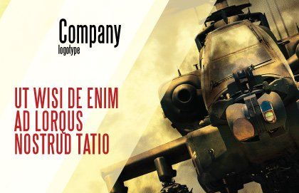 Military Helicopter Postcard Template Outer Page