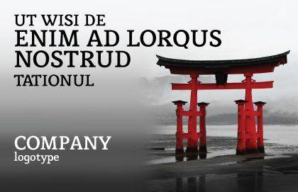 Ancient Japan Postcard Template, Outer Page, 05350, Art & Entertainment — PoweredTemplate.com