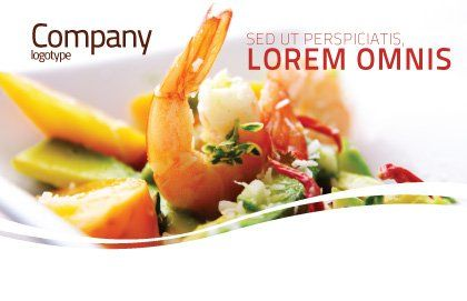 Shrimp Postcard Template, Outer Page, 05355, Food & Beverage — PoweredTemplate.com