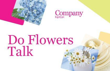 Table Bouquet Postcard Template, Outer Page, 05406, Careers/Industry — PoweredTemplate.com
