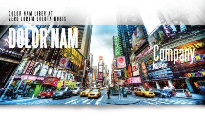 Times Square Postcard Template, Outer Page, 05456, Construction — PoweredTemplate.com