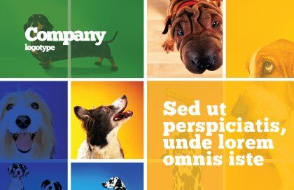 Dog Breed Postcard Template, Outer Page, 05529, Agriculture and Animals — PoweredTemplate.com