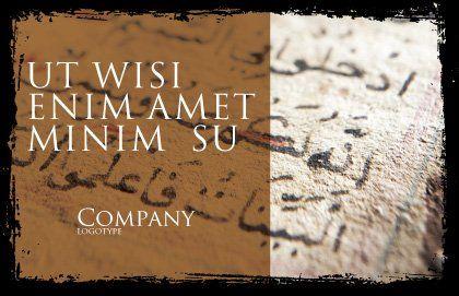 Arabic Postcard Template, Outer Page, 05584, Religious/Spiritual — PoweredTemplate.com