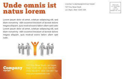 Orange Winner Postcard Template, Inner Page, 05622, Careers/Industry — PoweredTemplate.com